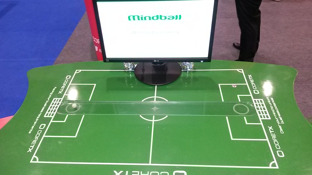 Mindball with optional football pitch markings and table top branding
